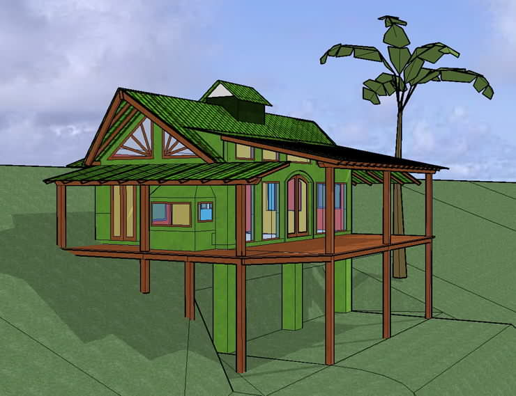 Example of tropical green building / sustainable design