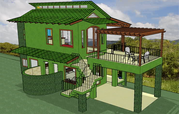 Casa heliconia pura vida sunsets for Eco house designs