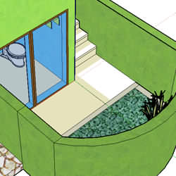 Green Building - everyone loves a garden bathroom.