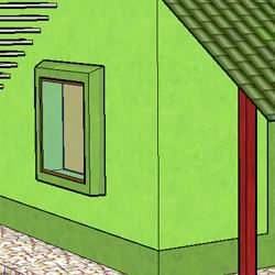 Green building - blending the house with the natural environment
