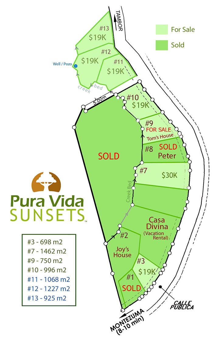 Montezuma Real Estate - Eco Village Lots for Sale